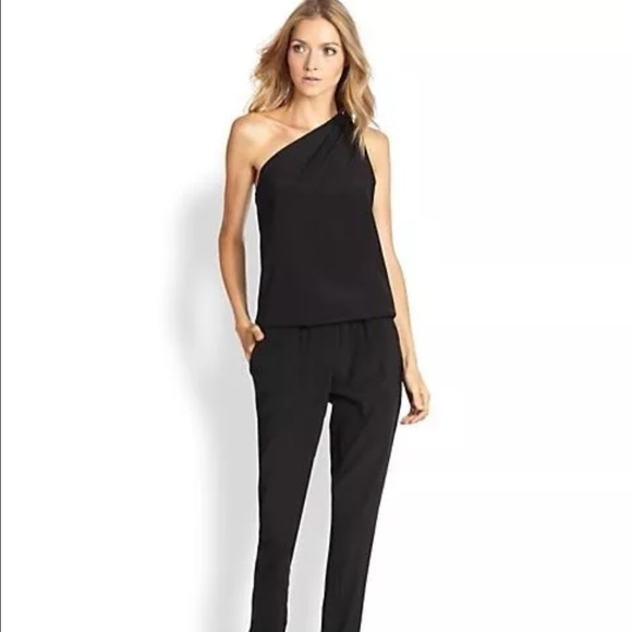 d7842e520eb0 Ramy Brook Lulu One-Shoulder silk jumpsuit Large