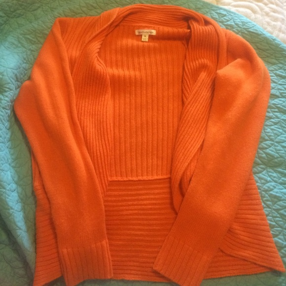75% off John Paul Richard Sweaters - Orange Sweater Cardigan from ...