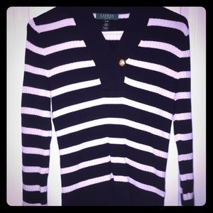 Black and white Ralph Lauren sweater