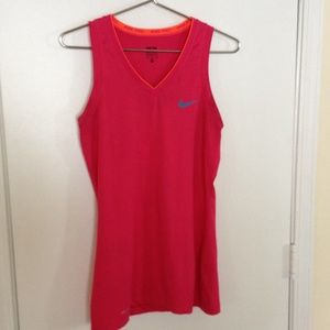 Nike pink workout top