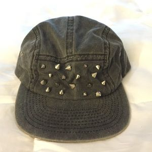 Other - Studded Grey 5 Panel Hat