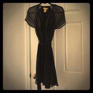 Catherine Malandrino black pleated dress, 4