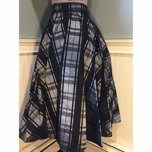 1bb57f424 Vintage Skirts | 1950s Plaid Taffeta Circle Skirt | Poshmark
