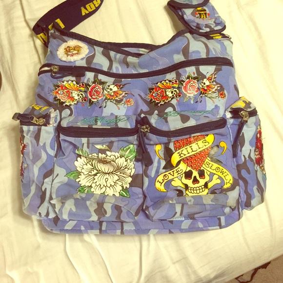 e885bbddfe Ed Hardy Handbags - Ed Hardy diaper bag