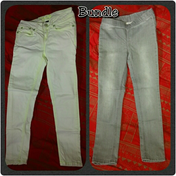 Request Jeans (green) and Cherokee (gray) Other - Bundle - Girls 2 pair of jeans.