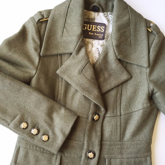 Guess Jackets   Blazers - ❄️WINTER SALE❄️Guess Military Pea Coat 4524adec9131a