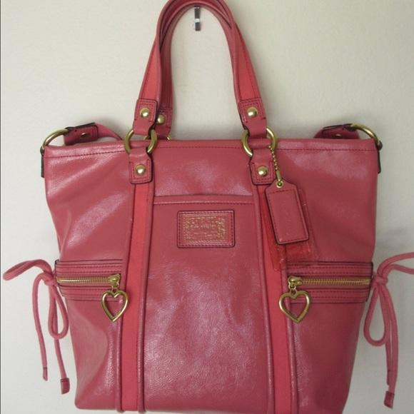 Coach - Salmon pink shiny coach purse from Lil's closet on Poshmark