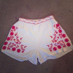 Pants - super cute flowy white shorts