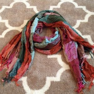 Multi color paisley scarf