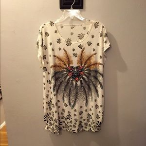 Tops - Polyester top with sequins