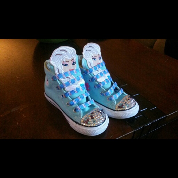 fc93373906f3 Custom made converse shoes.