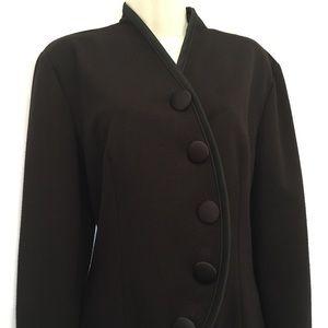Jackets & Blazers - Black Knit Tulip Shaped Jacket