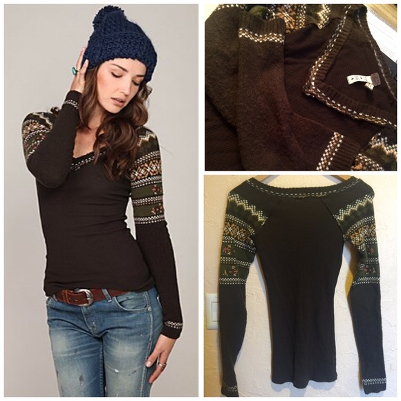 23% off Free People Tops - We The Free 🍁Fairisle Sweater Thermal ...