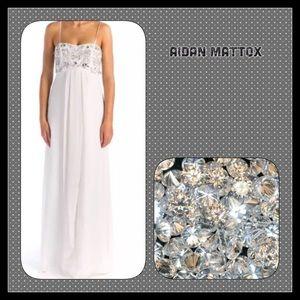 Aidan Mattox Dresses & Skirts - TODAY ONLY NWT Aidan Mattox Ivory Gown Embellis 12