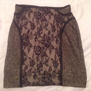 Forever 21 Lace Mini Skirt SMALL