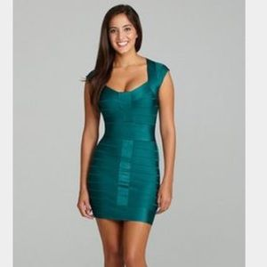French connection bandage dress teal