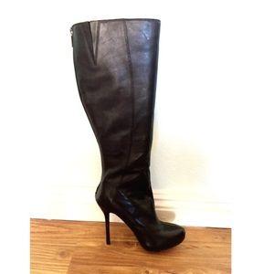 Boutique 9 Shoes - Boutique 9 by Nine West Black Leather Calf Boots