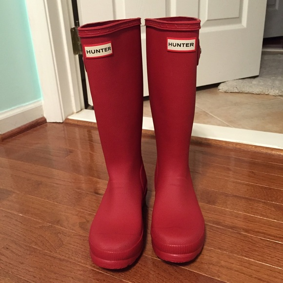 Hunter - NEW RED KIDS HUNTER BOOTS MATTE TEXTURE SIZE 6/6.5 from ...
