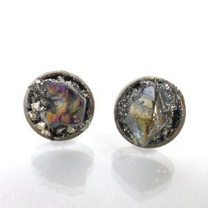 Lea Spirit Jewelry - Raw Crystal Quartz and Pyrite healing earrings