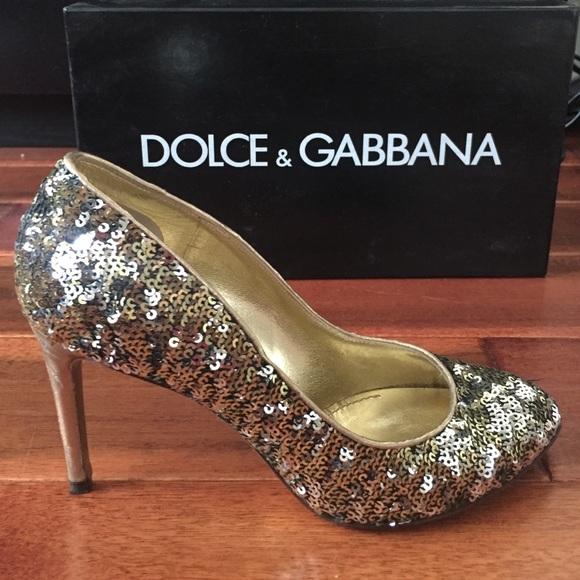Dolce Gabbana Gold Heels