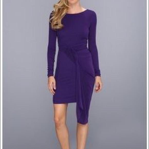 BCBGMaxAzria Dresses & Skirts - BCBG MAXAZRIA plumberry jersey 'Sosie draped dress