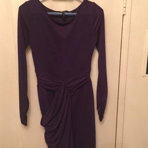 BCBGMaxAzria Dresses - BCBG MAXAZRIA plumberry jersey 'Sosie draped dress