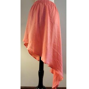 Boutique Dresses & Skirts - 🆑Silky Coral Asymmetrical Skirt