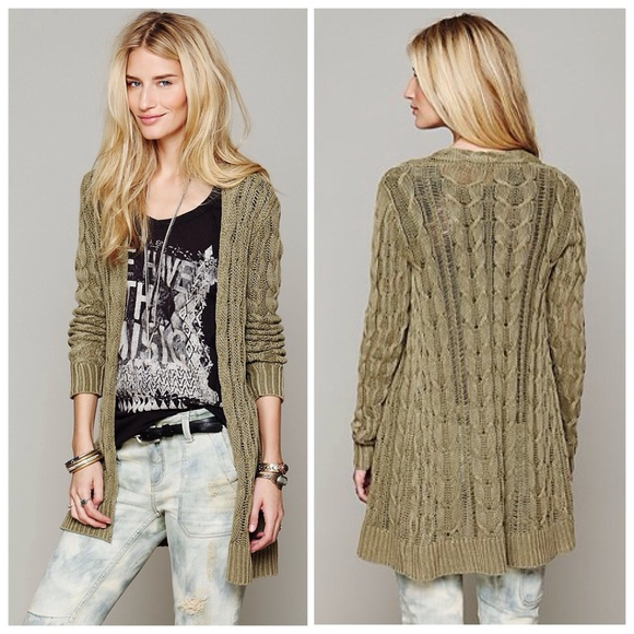 65% off Free People Sweaters - Free People long cable knit ...