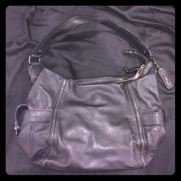 Cole haan black and white purse