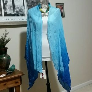 Beautiful Blue Ombre large oblong scarf / wrap
