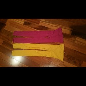 Pants - Ladies or teens, Pink and Yellow tights!