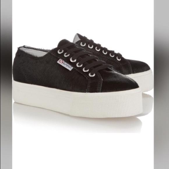 Superga Platform Pony Hair Sneakers Women s Size 8.  M 5610cdea13302aa5dc01009e 5e9127e9d