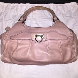 Authentic Salvatore Ferragamo Leather Pink Purse