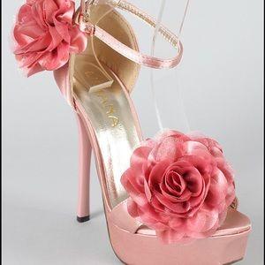 *SALE Liliana Sarafina Satin Floral OpenToe Sandal
