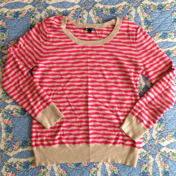 80% off GAP Sweaters - Gap pink and tan striped sweater from ...