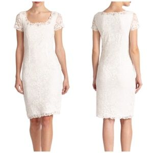 Josie Natori White Lace Dress