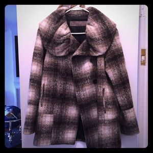 Zara Jackets & Blazers - ZARA Plaid Fall/Winter Peacoat