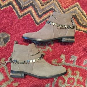 Fred Salvador Star Jodhpur Taupe Ankle Booties