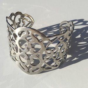 Jewelry - Silver Metal Bangle Cuff Bracelet