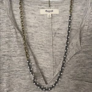 Baublebar mixed metal pearl necklace