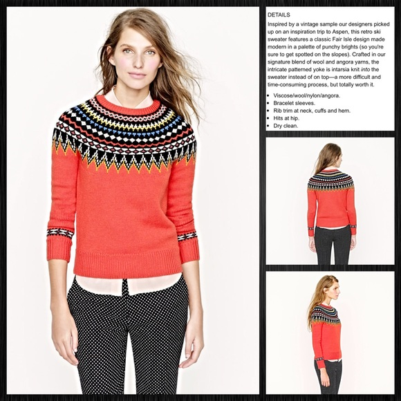 66% off J. Crew Sweaters - J. Crew Fair Isle Ski Sweater from L's ...