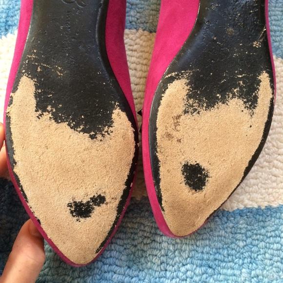 Rock & Republic Shoes - Rock & Republic Magenta Suede Flats