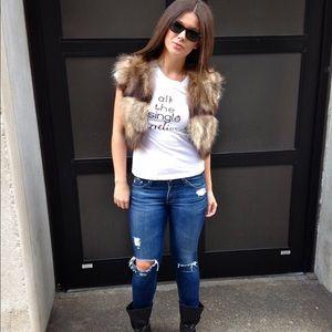 Adrienne Landau Jackets & Blazers - Adrienne Landau Cropped Raccoon Fur Vest