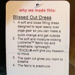 lululemon athletica Dresses - NWOT lululemon Blissed Out Dress