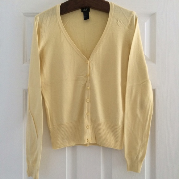 80% off H&M Sweaters - Pale Yellow Cardigan from Nursh's closet on ...