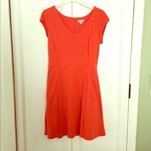 Merona short sleeve red dress