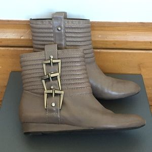 7 For All Mankind Ankle Buckle Boots