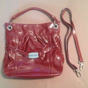 Deep Red Patent NINE WEST handbag