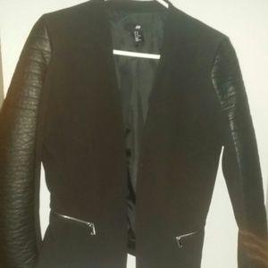 Faux leather H&M blazer