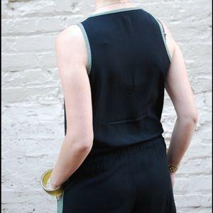 Splendid Other - Splendid black with green stripe romper.